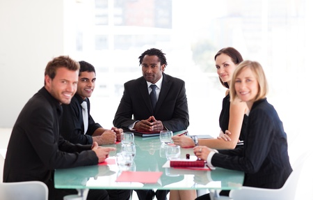 businessmeeting: Business people in a meeting Stock Photo