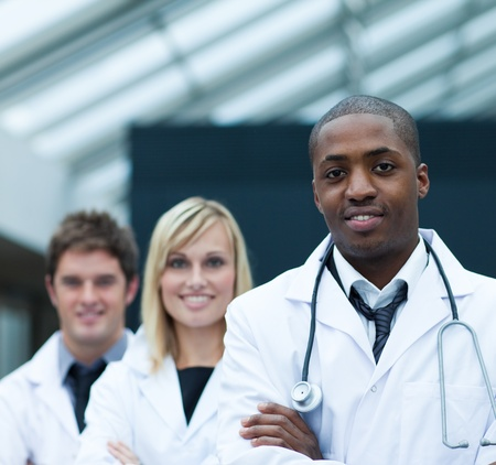 Portrait of a confident ethnic doctor Stock Photo - 10249408