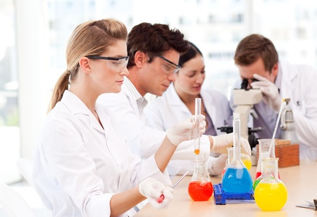 Science students in a laboratory photo