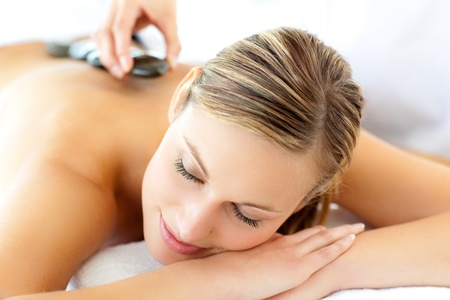 Attractive woman having a massage  photo