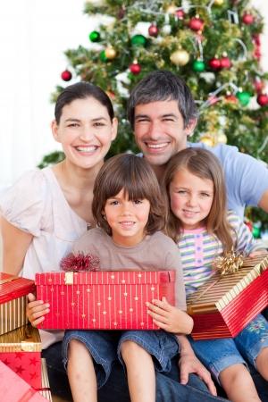 Family Christmas portrait Stock Photo - 10248898