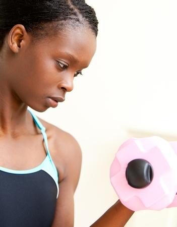 Woman doing fitness photo