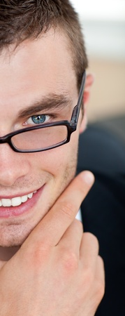 Nice businessman with glasses photo