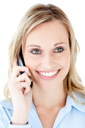 Sweet woman calling Stock Photo - 10248571