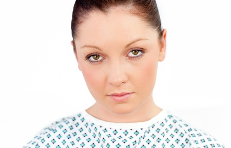 diseased: Close-up of a diseased female patient Stock Photo