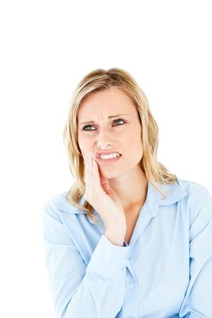 mal di denti: Imprenditrice abbattuto con mal di denti Archivio Fotografico