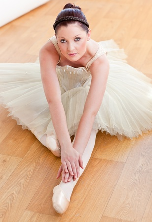 Female ballet dancer dong stretching Stock Photo - 10244215
