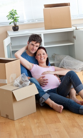 Cute future mother holding her husband during a break Stock Photo - 10244104