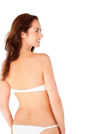 Pretty hispanic woman wearing bikini photo