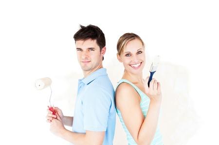 paintrush: Charismatic couple painting a room