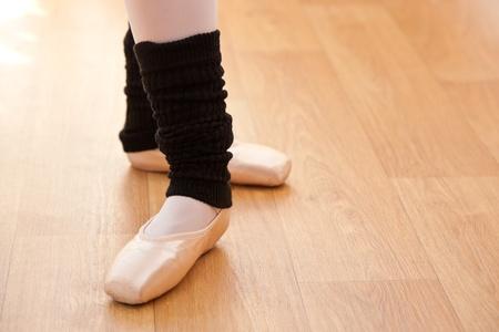 professional practice: Close-up of ballerina