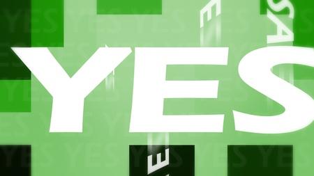 Green yes illustration illustration
