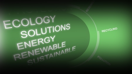 energy conservation: Creative image of green economy concept