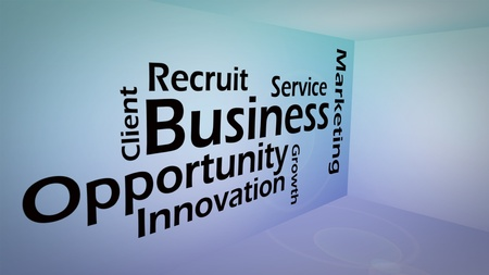 opportunity concept: Creative image of business opportunity concept