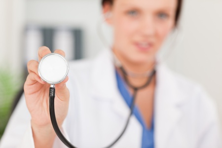A female doctor with a stethoscope photo