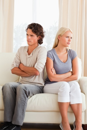 Portrait of a couple after an argument with the arms crossed Stock Photo - 11227095