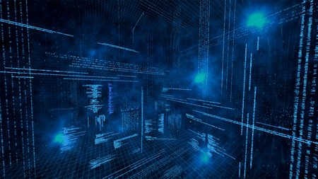 dark background: An illustration of virtual data