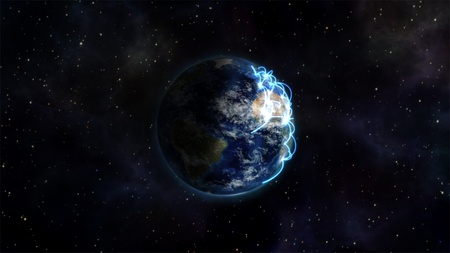 courtesy: An illustration about the different connected countries with an Earth image courtesy of Nasa.org Stock Photo