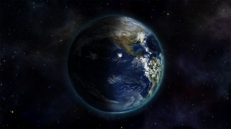 courtesy: Illustrated image of the world in space with an Earth image courtesy of Nasa.org