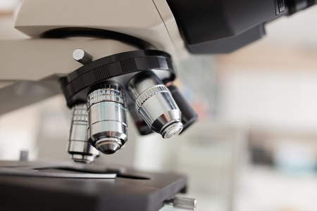 Close up of a microscope in a laboratory Stock Photo - 11187483