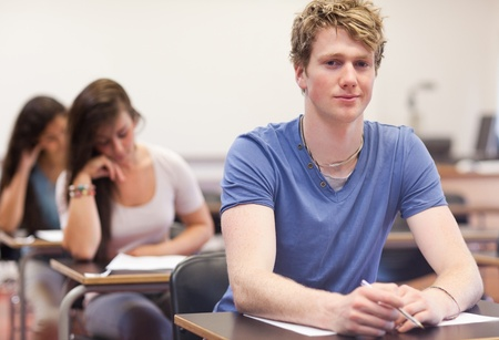 Young students doing an assignment in a classroom Stock Photo - 11183655