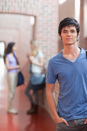 Portrait of a handsome student posing in a corridor Stock Photo - 11181443
