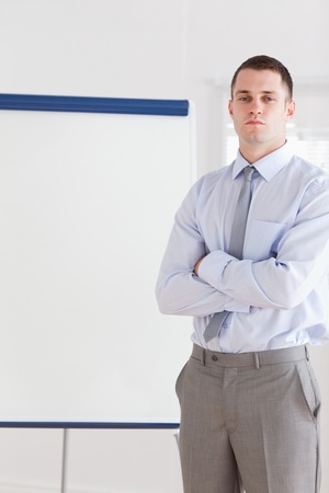 Confident businessman about to give a presentation Stock Photo