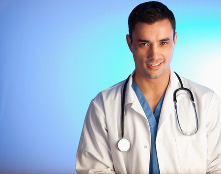 Handsome doctor posing looking at the camera Stock Photo - 11637019
