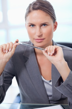 Portrait of a businesswoman in her office photo