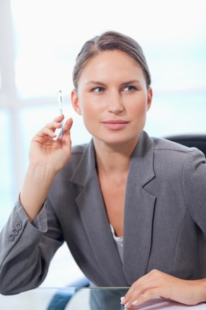 Portrait of a businesswoman posing in her office photo