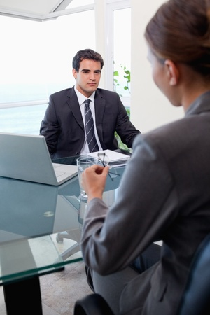 Portrait of a business team during a meeting in an office Stock Photo - 11687673