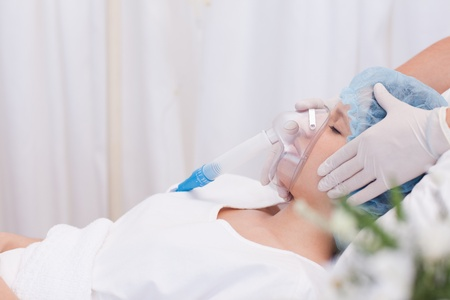 Young woman about to get surgery Stock Photo - 11686580