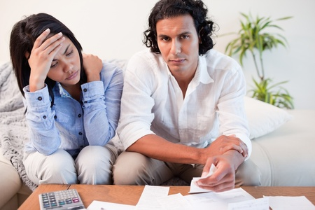 Young couple experiencing financial problems Stock Photo - 11683181