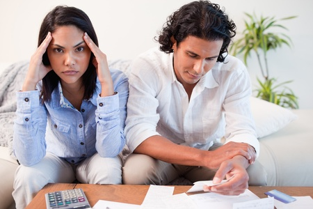 Young couple just found out they are broke Stock Photo - 11682730