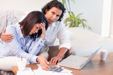 Young couple worried about their finances Stock Photo - 11684249