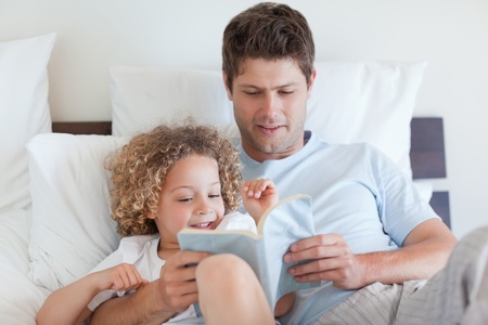 Father reading a story for his child Stock Photo - 11683450