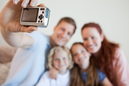 digi: Digi cam being used to take family picture