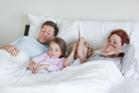 Family slowly waking up photo