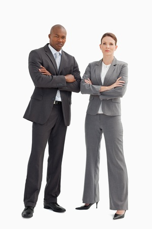A business man and woman with their hands crossed Stock Photo - 13674047