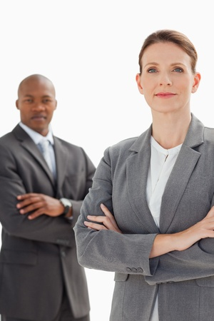 Business people are posing with arms crossed Stock Photo - 13670478