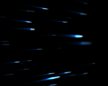 backgrounds: Blue falling stars against black background Stock Photo