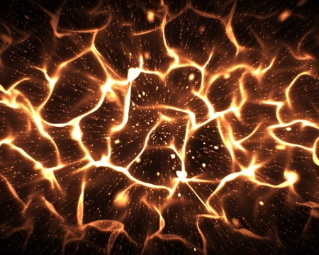 electric material: Abstract background in orange Stock Photo
