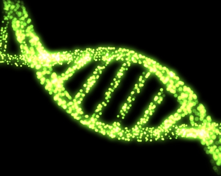 dna strand: Green DNA Helix Background