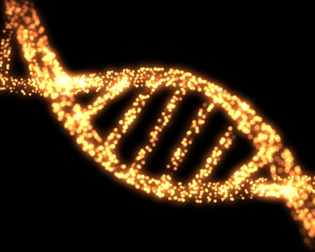 Orange DNA Helix Background