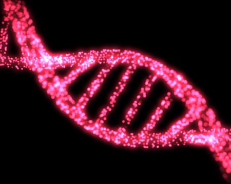 biological science: Pink DNA Helix Background Stock Photo