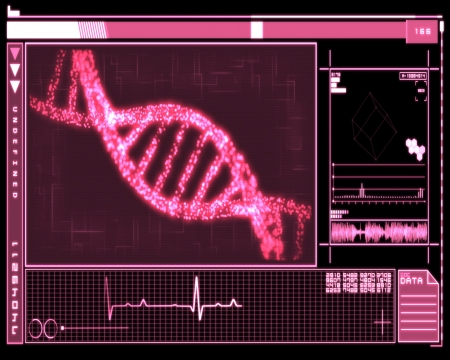 Pink Background DNA Helix technology photo