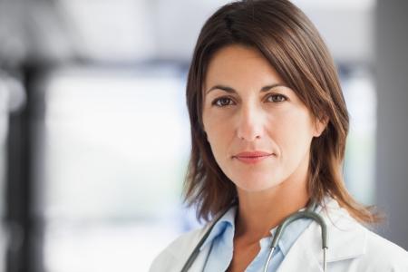 woman doctor: Doctor in hospital corridor