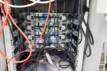 Inter of server in data center Stock Photo - 15592866