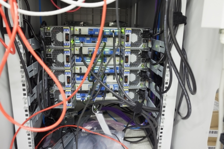 Interior of server in data center Stock Photo - 15592866
