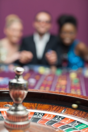 People playing roulette at the casino Stock Photo - 16075175